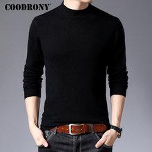 Suéter marca COODRONY para hombre, Jersey Casual de cuello alto, suéteres de lana Merino para hombre, Otoño Invierno, suave, cálido, jersey de Cachemira, 93011 para hombre