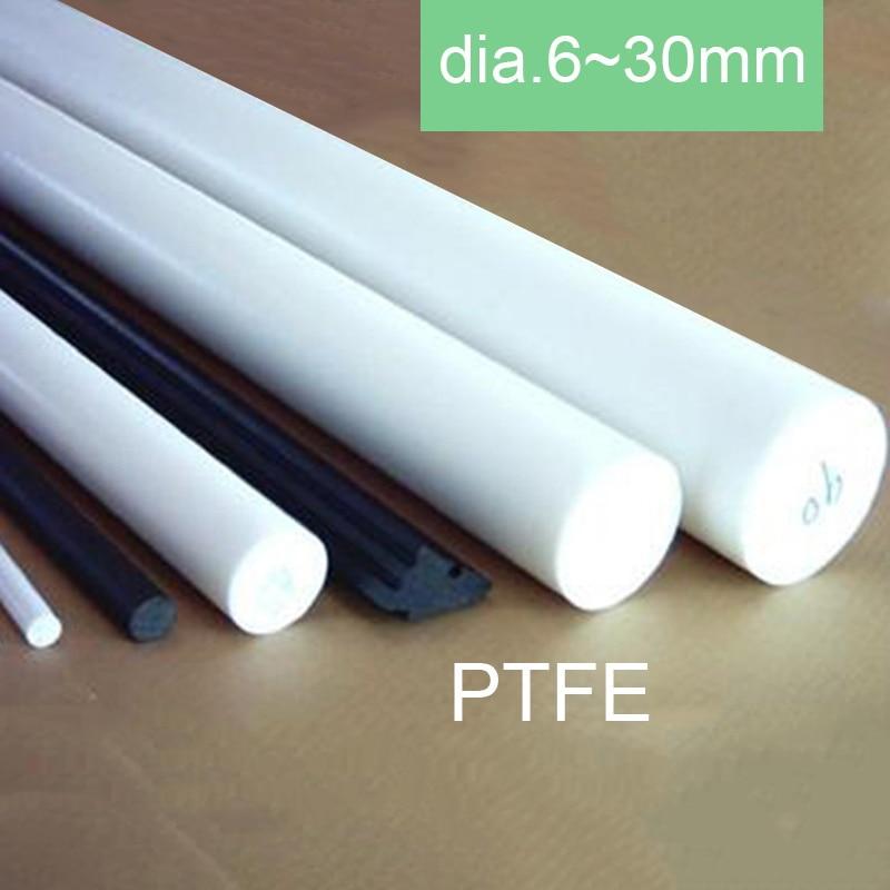 1Pcs 50mm Length  OD 40mm PTFE  Round Rod Bar