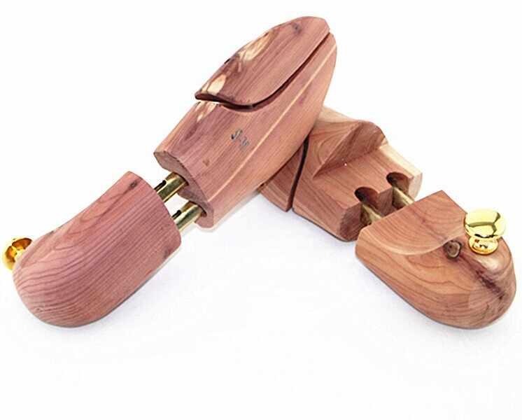 1 زوج جديد حار عالية الجودة حذاء من خشب الأرز شجرة المشكل حارس قابل للتعديل نقالة الحذاء الخشبي الخشب الحرفية OK 0638