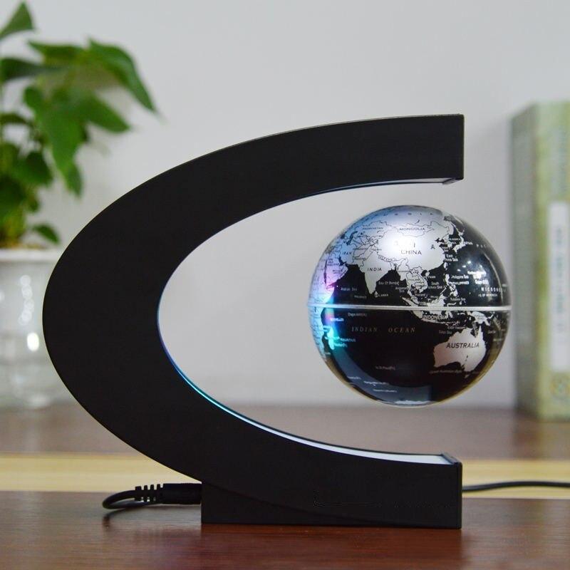 Led Flottant Globe Levitation Magnetique Bureau Lampe De Nuit
