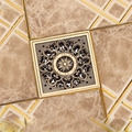 "Free Shipping Antique Brass 4"" Square Floor Drain Cover Decorative Floor Waste Grate Drainer"