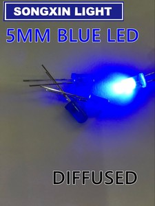 Image 2 - 2000 Stks/partij 5Mm Blauwe Led Diode Ronde Diffuus Blauwe Kleur Licht Lamp F5 Dip Markeren Nieuwe Groothandel Elektronische