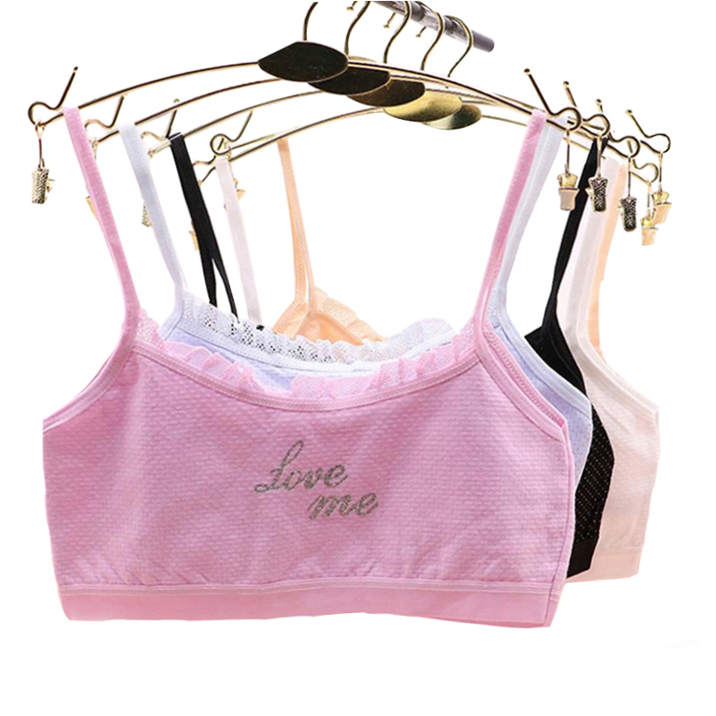 Pluckystar Girl Underwear Lace Bras For Girls Cotton Camisoles Sports Bra Top For Teens Training Bra