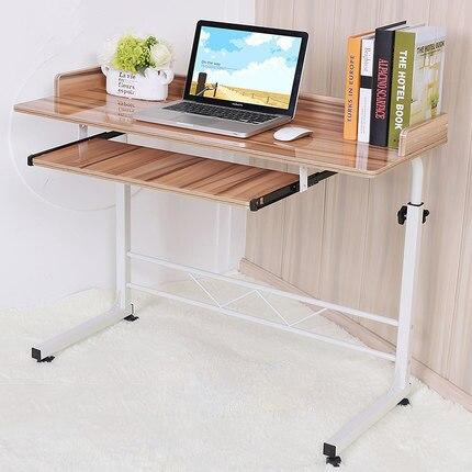 LK366 высокое качество высоте компьютерный стол с универсальным колеса фортепиано живопись поверхности стол для ноутбука кровать с забором