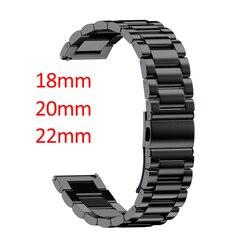 16mm 18mm 20mm 22mm 24mm Genişliği paslanmaz çelik şerit için Samsung Dişli Spor S2 S3 Galaxy 42mm 46mm saat kayışı Metal Bileklik