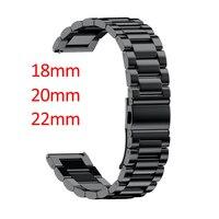 16mm 18mm 20mm 22mm 24mm szerokość pasek ze stali nierdzewnej do Samsung Gear Sport S2 S3 Galaxy 42mm 46mm pasek zegarka metalowa bransoletka w Paski do zegarków od Zegarki na
