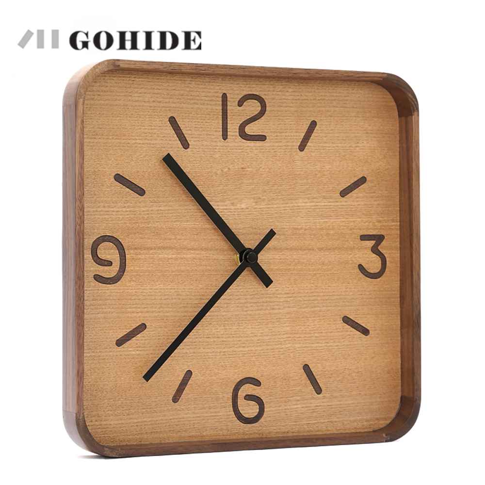Juhd A Wooden Wall Clock Creative Modern Retro Pocket Watch Decor Crafts Natural Antique Style In Clocks From Home Garden