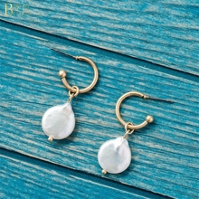 BOAKO Baroque Pearls Earrings For Women Girl Pearl Beads Irregular Earring Korea pearl Drop femme Jewelry Z5
