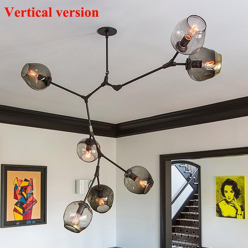 Lustres industrial de loft lustres luzes Instalação : Montado Embebido