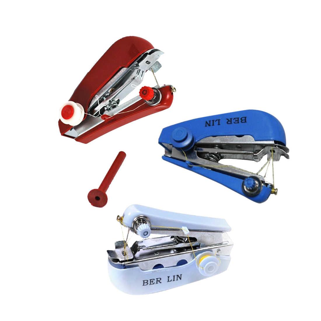 11*7*4cm Mini máquina de coser a mano DIY Color aleatorio práctico máquina de coser herramienta máquina de costura Accesorios