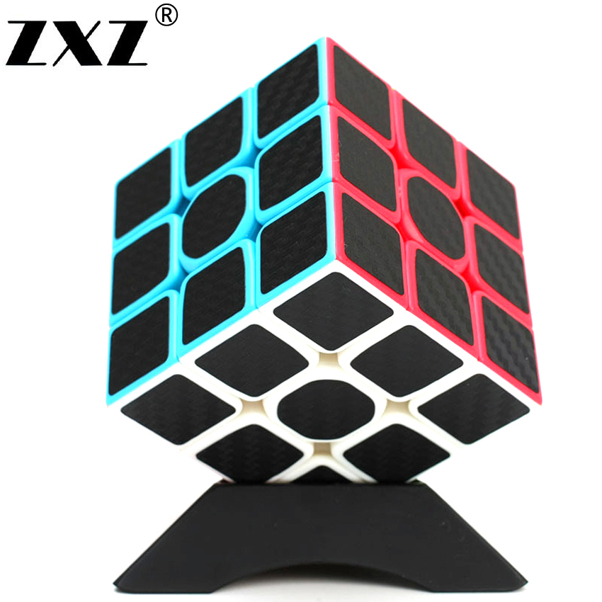 2x2x2 3x3x3 Carbon Fiber Sticker Cube Speed Smooth Fidget Cube Magico Educational Brain Teaser Toys For Children Adult 8061 3x3x3 brain teaser magic iq cube multicolored 6 pcs