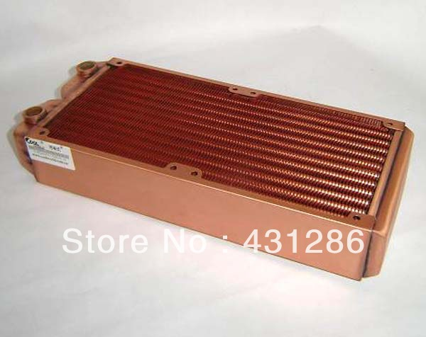 Ke Ruiwo pure copper water-cooled heat exchanger 240mm thicken radiator watercooling computer notebook graphics card thermal conductivity copper cooling copper 30 30 3 0mm pure copper computer heat fins 30x30x3 0 radiator