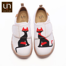 UIN Muen & Silk Design Canvas Flats for Kids Comfort Round Toe Casual Shoes Boys/Girls Outdoor Shoes Lightweight Sneakers(China)