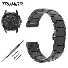 Quick Release Ceramic Watchband for Fossil Q Founder Wander Crewmaster Grant Mar