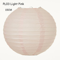 15cm(6inch) 30pcs/lot Lovely Light Pink Round Handy Paper Lamps Lanterns Hanging Baby Shower Wedding Holiday Home Decorations