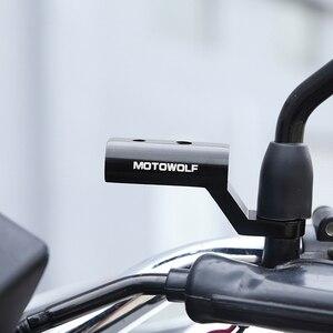 Image 1 - Yeni motosiklet genişleme rafı arka görünüm gidon ayna montaj adaptörü motosiklet ışık genişleme braketi telefon tutucu standı