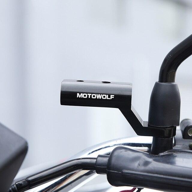 Yeni motosiklet genişleme rafı arka görünüm gidon ayna montaj adaptörü motosiklet ışık genişleme braketi telefon tutucu standı