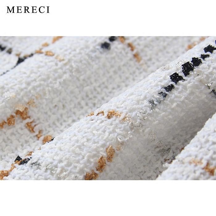 Purebliss Longues Plaid Designer À Tweed Qualité Élégante Manteau 2017 Haute Noir De Automne Formelle Dames Piste Manches Veste 8rxqn8w4