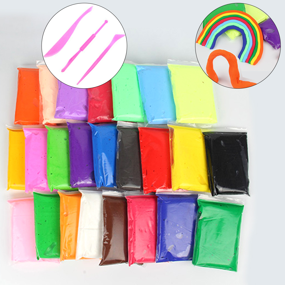12/24/36 Pcs/Set Colorful Polymer Modelling Clay With Tools Good Package Special Kids Toys DIY Polymer Clay Playdough Plasticine