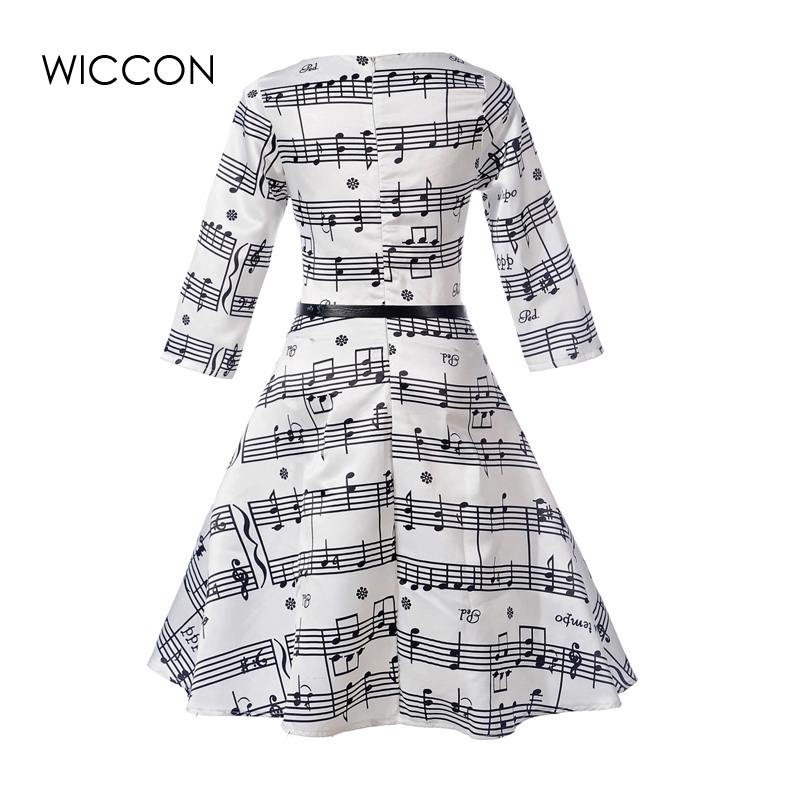 New Women Dress High Defined Waist Vintage Dresses Woman Girls Autumn Vestido O-neck Collar Knee Length Vestidos Female Clothing