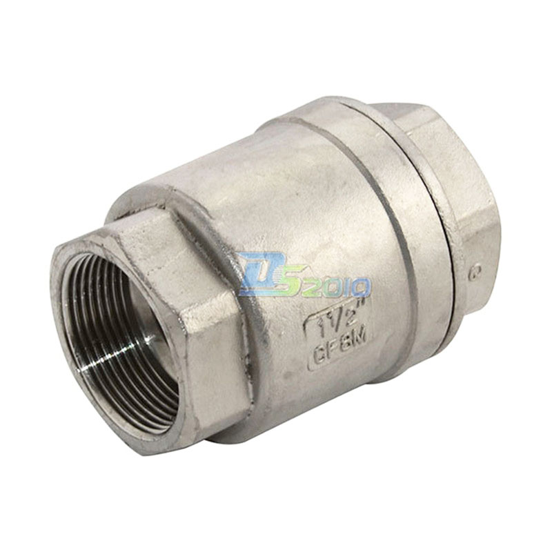 MEGAIRON BSPT 1-1/4 DN32 Stainless Steel SS316 Check Valve 1000 WOG Thread In-Line Spring Vertical Control Tool megairon 1 1 4 male x 1 female dn32 to dn25 reducer bushing bspt thread stainless steel ss304 pipe fittings for gas water oil