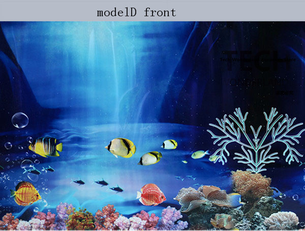 Aquarium ornament double sided decorative high definition for Fish tank paint
