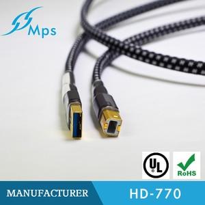 Image 2 - HiFi MPS HD 770 HiFi 99.9997% OCC 24 K 10u Gold Überzogene Stecker USB2.0 3,0 stecker audio kabel DAC PC Audio daten kabel