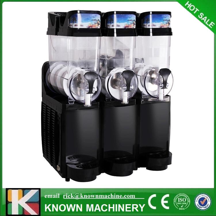 Black color Snow Melting machine/Three Tank Slush Machine/Cold Drink Maker/Smoothies Granita Machine/Sand ice machine цена