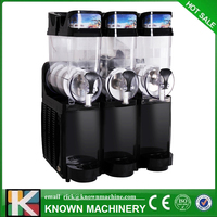 Black color Snow Melting machine/Three Tank Slush Machine/Cold Drink Maker/Smoothies Granita Machine/Sand ice machine
