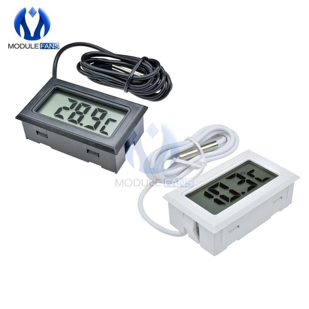 1 メートル/3 メートル/5 メートルミニデジタル Lcd 冷蔵庫冷凍庫温度計センサー温度計サーモグラフのための水族館冷蔵庫キット
