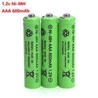 3 pièces 1.2 v NI-MH AAA Piles 600 mAh Batterie nimh Rechargeable 1.2 V Ni-Mh aaa Pour Électrique télécommande voiture Jouet RC ues