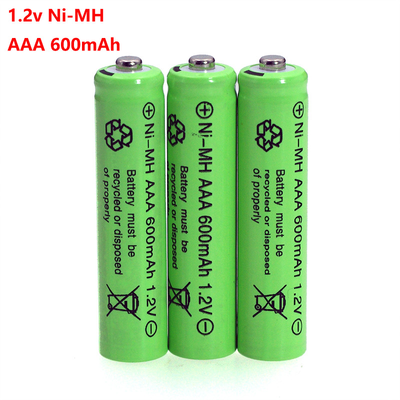 3pcs 1.2v NI-MH <font><b>AAA</b></font> Batteries 600mAh Rechargeable nimh Battery 1.2V Ni-Mh <font><b>aaa</b></font> For Electric remote Control car Toy RC ues image