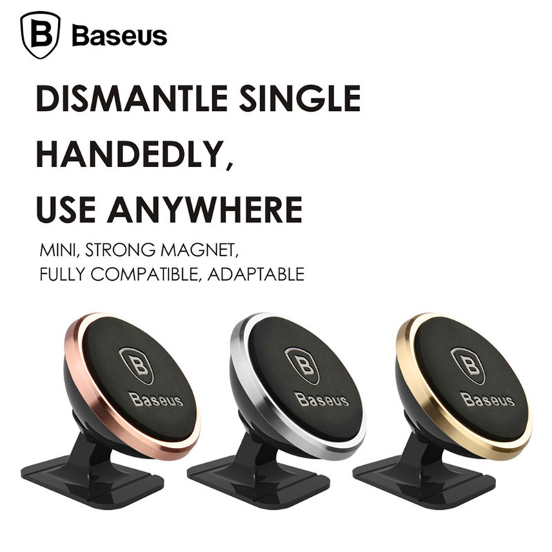 BASEUS Universal Magnetic 360 Rotation Mobile Phone Car Holder Stand Pro for iPhone 6Plus 5C 4 SE for Samsung for Galaxy S7 Edge