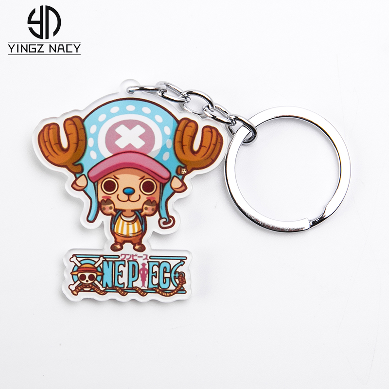 Anime Figure Ship Doctor Chopper Keychains For Women Men One Piece Key Chains Acrylic Cute Cartoon Key Rings Ornament Cosplay