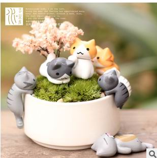 Free shipping  6 Styles  cute Kids  Cheese Cat Action Figures Mini Cat PVC Toys Figures Model Toy Best Decoration For Children 2017 new 1 6 1 6 12 action figures g43 sinper rifle tactical gun christmas gift free shipping boy toy birthday present