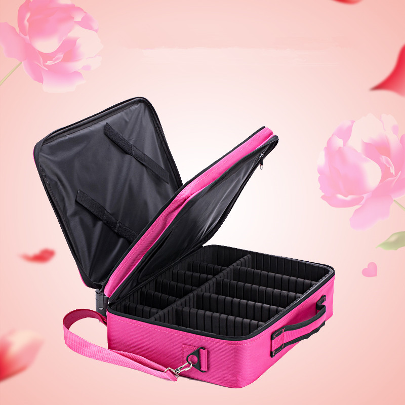 top sellfactory price tattoo tool portable large capacity nail multi-layer portable cosmetic bag large capacity with makeup bag цена 2017