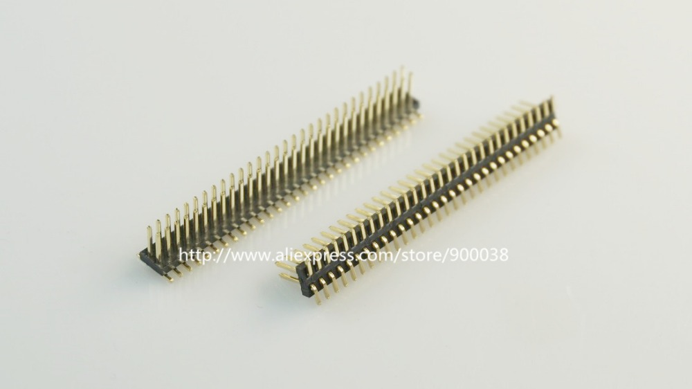 10 pcs <font><b>1.27</b></font> <font><b>mm</b></font> 2x30 Pin 60P Male PCB Header Dual rows Straight SMD / SMT Surface PCB Pin Headers Rohs Lead free image
