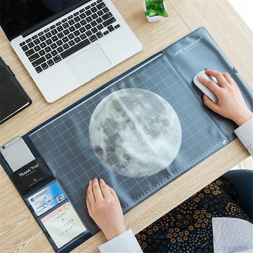 Большой Размеры стол Мышь Pad многофункциональный офисный стол Коврики модные звезд, Луны шаблон Pad для Мыши компьютерные Клавиатура ноутбук...