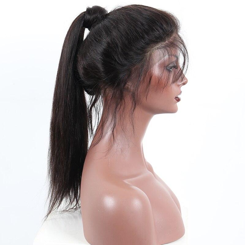 Base en soie cheveux humains pleine perruque de dentelle brésilienne pré plumée pleine dentelle perruques cheveux humains avec des cheveux de bébé CARA droite Remy cheveux