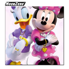 5D Diy Diamond Cross Embroidery Inlay Embroidery Donald Duck and Minnie Full Square or Round Mosaic Gift Set Decoration WYZ18879(China)
