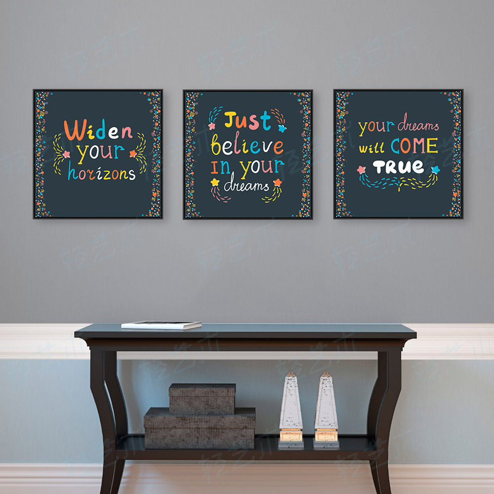 Color printing quotes - Triptych Modern Colorful Motivational Typography Life Quotes A4 Large Art Prints Poster Wall Pictures Canvas Painting