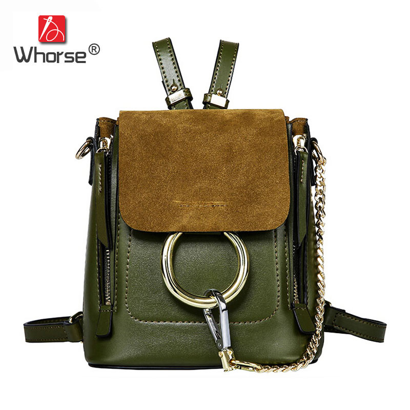 купить Beautiful Fashion Style Bucket Bag Genuine Leather Backpack Women Chain Backpacks Cover Back Pack With Metal Ring For Lady W0850 по цене 11219.59 рублей