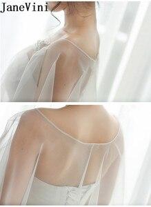 Image 3 - JaneVini capas de Bolero de boda para mujer, chal para veladas fiesta nupcial, envoltura de tul, Verano
