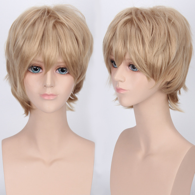 Naruto One Piece Fairy Tail Bleach Halloween Chris Cosplay Short Wig