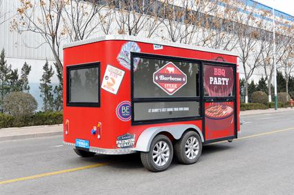 RL-B43T Mobile Food Trailer Pizza Food Truck BBQ Play Cart For Sale Europe