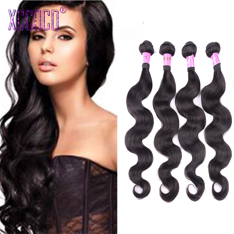 Black Clor Peruvian Body Wave Hair Bundles 4 Pcs/Lot Peerless Virgin Human 100g/pcs