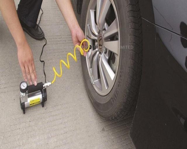 Фото 12 в портативный надувной насос для автомобильных шин супер