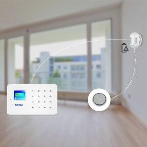 Image 4 - KERUI Mini alarma de Sensor de movimiento PIR inalámbrico, Detector con base giratoria magnética para sistema de alarma de seguridad para el hogar G18 W18