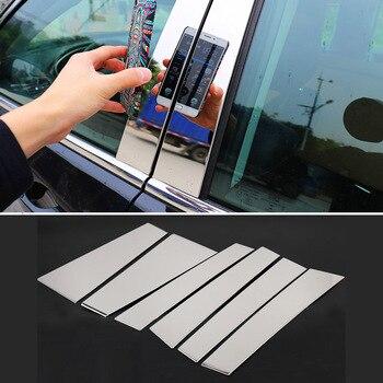 עבור טויוטה הנצח 2015 2016 2017 רכב Windows התיכון חיצוני לחיתוך רכב דלת חלון מרכז עמוד רצועת הודעות 6 יחידות