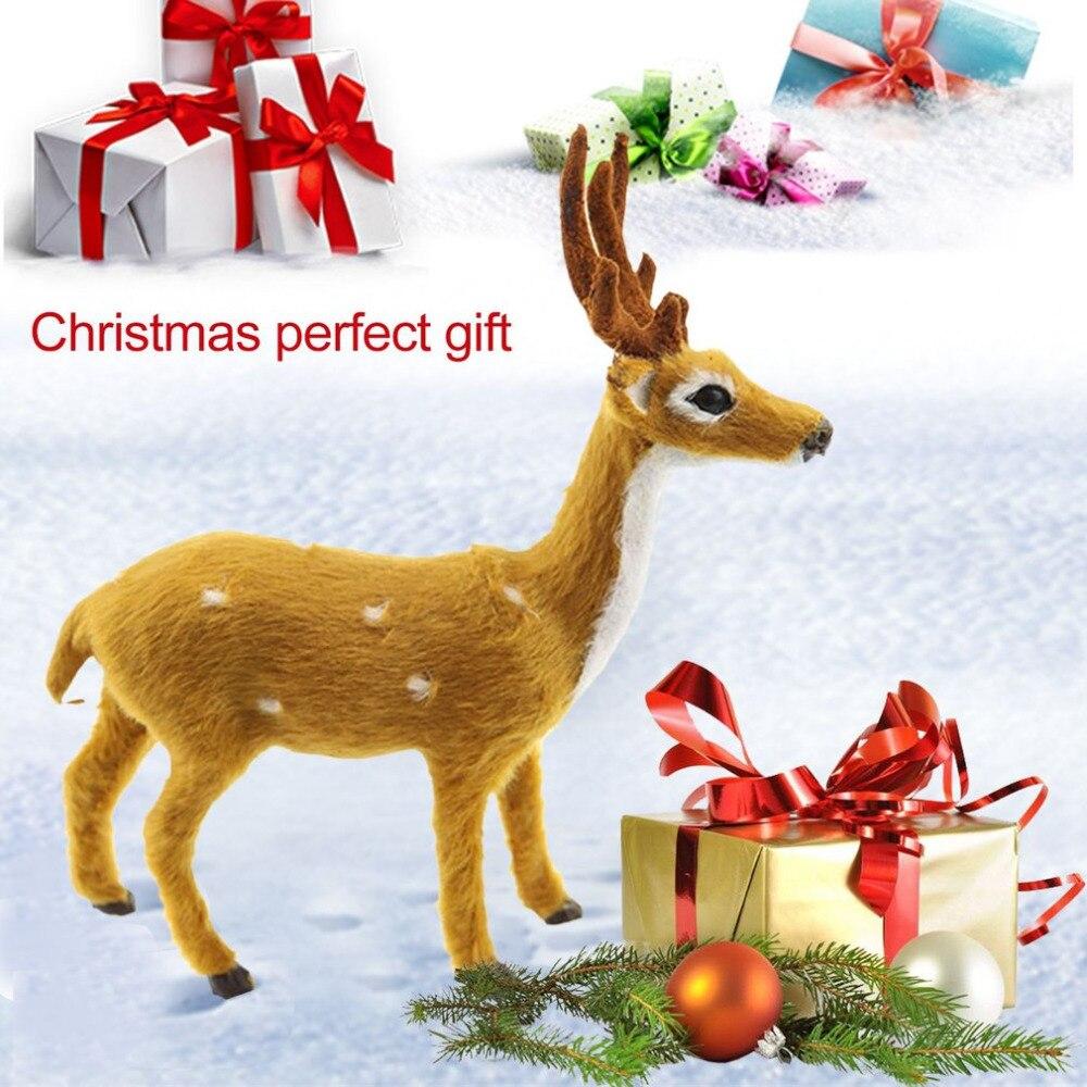1 Stücke Mini Simulation Reindeer Christmas Ornament Kunststoff ...
